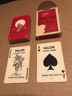Antique The Bay State Card Co. Valor Playing Cards R 1893 w/ 1 Joker & Orig. Box for Sale in San Angelo,  TX