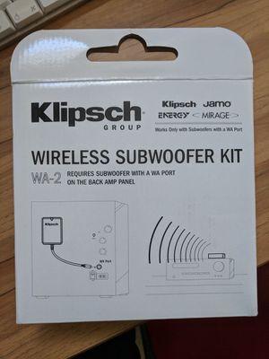 Klipsch Wireless Subwoofer Kit for Sale in Herndon, VA