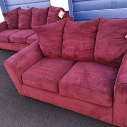 Like New Red Ashley Furniture Sofa Set for Sale in Tempe,  AZ