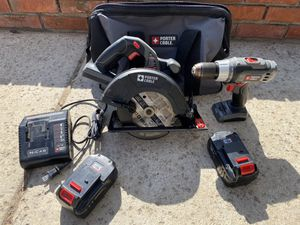 Porter Cable 18v Circular Saw and Drill combo set for Sale in San Diego, CA