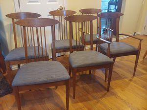 Six mid century Broyhill Sculptra chairs for Sale in Bothell, WA