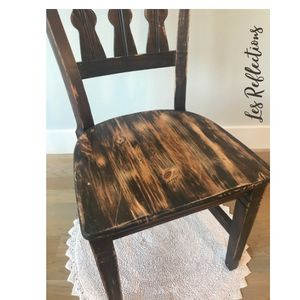 Wooden accent chair for Sale in Fort Worth, TX