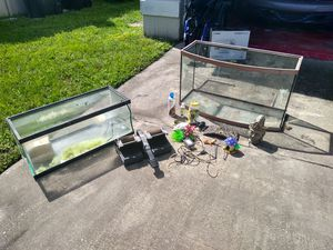 2 Fish Tanks for sale with accesories for Sale in Alafaya, FL