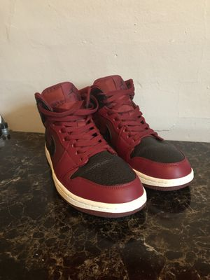Maroon and black Jordan Retro 1 mid for Sale in Rochester, NY