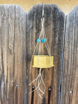 Mini hanging decor or planter with turquoise skull design for Sale in Phoenix, AZ