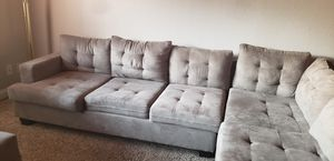 Sectional couch with storage ottoman/Lamp for Sale in Las Vegas, NV