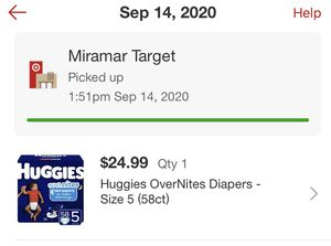 Huggies overnight diapers size 5 for Sale in Hialeah, FL