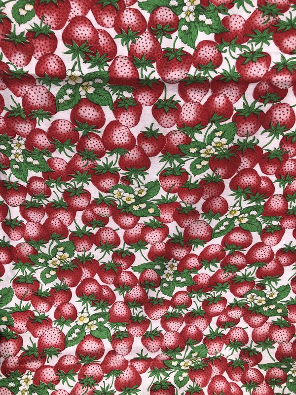 **SALE**Vintage Strawberry Fabric