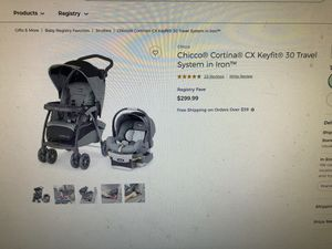 Chicco cortina Cx travel system baby stroller and carriage for Sale in Chandler, AZ