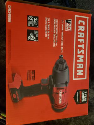 CRAFTSMAN V20 1/2 INPACT WRENCH (TOOL ONLY) for Sale in Aurora, CO