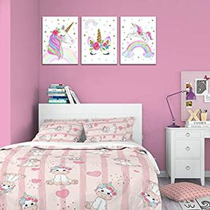 Canvas Wall Art Unicorn Living Room Nursery Home Paint Decor for Sale in Marquette, MI