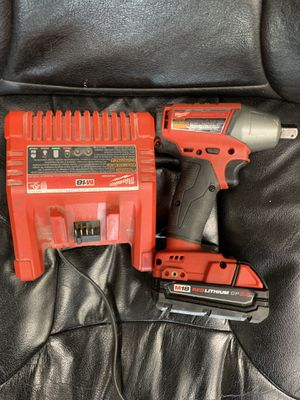 1/2 inch impact wrench with battery and charger (36263-1 AP) for Sale in Tampa, FL