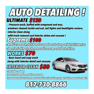 Auto Detail for Sale in Haltom City, TX