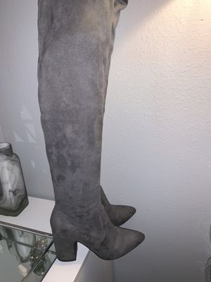 Gray Thigh High Boots for Sale in Houston, TX