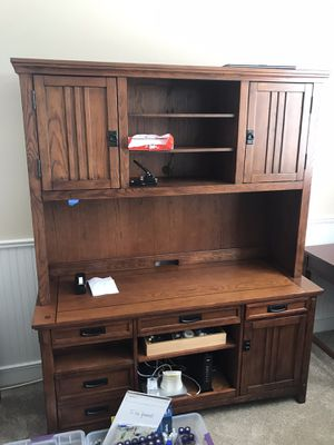 Ashley furniture office hutch end table and file cabinet for Sale in Livermore, CA