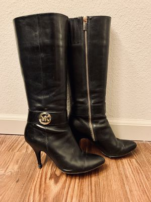 Authentic Michael Kors Leather Boots - Size 8.5 for Sale in Denver, CO