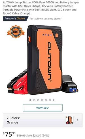 Portable Jump Starter for Sale in Galloway, OH