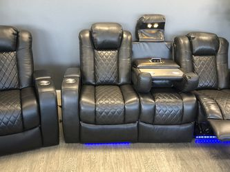 New & In Stock! Top Grain Leather Power Transformer Sofa Only $1499! Available In Red, Grey, Brown, & Black! for Sale in Vancouver,  WA