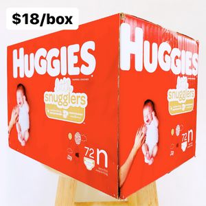 Newborn (Up to 10 lbs) Huggies Little Snugglers (72 diapers) - $18/box for Sale in Anaheim, CA