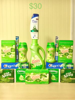 Gain, Crest, & Irish Spring Green Bundle $30 for Sale in Centreville, VA