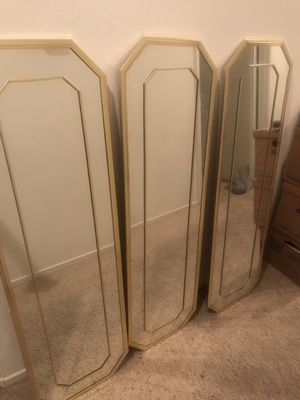 3 Mirror with brass trim for Sale in Sierra Madre, CA