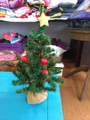 Small artificial desk top Christmas tree 2$ for Sale in Warren, OH