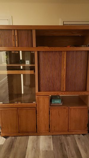 Entertainment bookcase, shelves, drawers, storage area for Sale in South San Francisco, CA