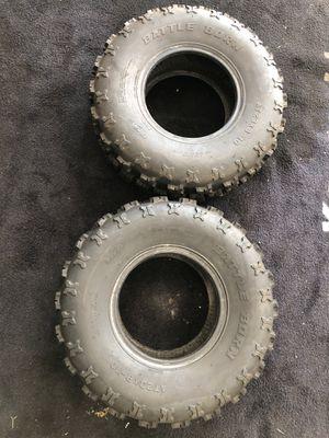 2 GBC Battle Born tires 23X8X10 ATV or Polaris 170 for Sale in Yorba Linda, CA