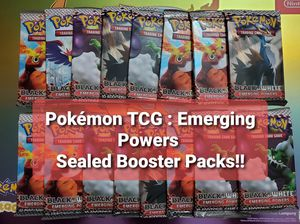 Pokemon TCG - BW2: Emerging Powers Sealed Booster Packs for Sale in Chesilhurst, NJ