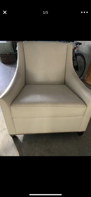 Leather West Elm Chair for Sale in Tampa, FL