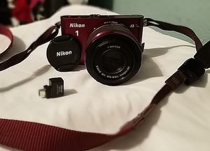 Nikon 1 J3 14.2 MP HD Digital Camera System with 10-30mm VR and 30-110mm VR 1 NIKKOR Lenses (Red for Sale in Round Rock, TX