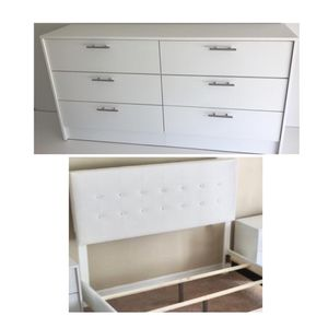 New queen bed frame and dresser mattress is not included for Sale in Winter Park, FL