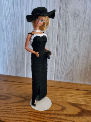 #3 Barbie in Stunning Crocheted Black Evening Dress for Sale in Lacey, WA