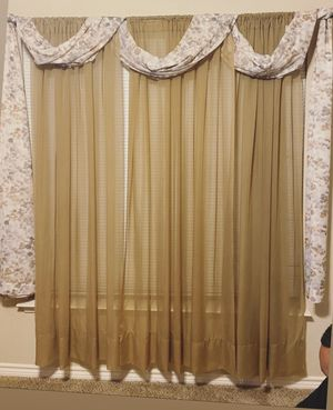Selling brown curtains for Sale in Midland, TX