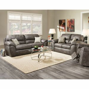 Montana queen bed/ Ulyses sofa and love seat for Sale in High Point, NC