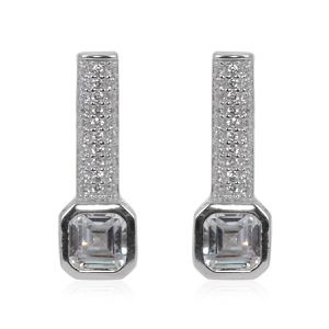 Simulated Diamond Earrings in Sterling Silver for Sale in Cumming, GA