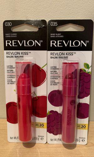 Revlon Kiss lip balm: sweet cherry or berry burst for Sale in Alexandria, VA