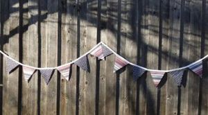 Red White & Blue Patriot Fabric Banner 4th Of July Bunting for Sale in Cherryvale, KS