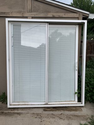 "72"" Sliding Glass Door w/ built in blinds for Sale in Greenwood Village, CO"