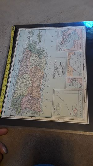 $10 cool antique 1902 map of Puerto Rico for Sale in Tacoma, WA