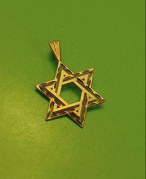 14k gold Star of David pendant charm diamond cut for Sale in Peoria, AZ