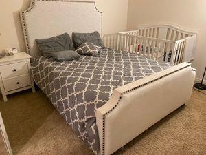 Upholstered Belgrave Queen Bed + Diamond Mattress for Sale in Chandler, AZ