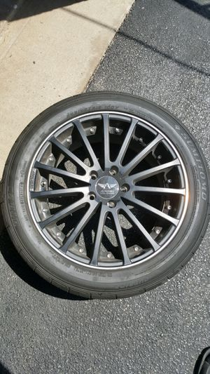 (4) Summer tires with black rims for Sale in Chicago, IL