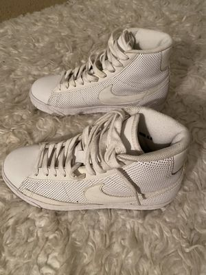 White Nike High Top Shoes size 5.5 Youth for Sale in Fontana, CA