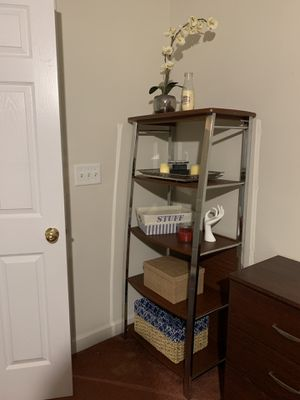 5 Shelf Bookcase, Bookshelf Industrial Style Metal and Wood Bookshelves for Sale in High Point, NC