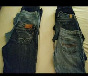 6 Pair Women's Denim Blue Jeans-$5 each for Sale in Glendale, AZ