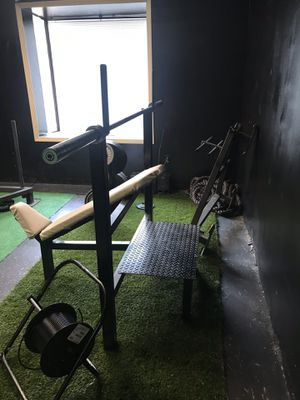 Gym/bench/pull ups/ dips /incline /workout fitness equipment for Sale in Peachtree Corners, GA
