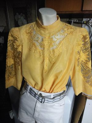 Vintage tailor woman's top yellow color for Sale in Paramount, CA