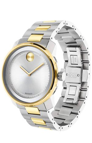 movado bold 42.5mm ss silver dial gold two tone mens watch-3600431 for Sale in Los Angeles, CA