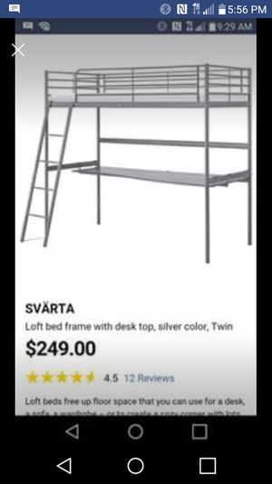 Ikea loft bed with desk for Sale in Savannah, MO